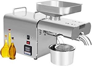 CGOLDENWALL Oil Press Machine Home Oil Presser Hot Cold Oil Extractor Oil Expeller with Tempertaure Control Function High Press Capacity 5-7.5kg/h (110V US Plug)
