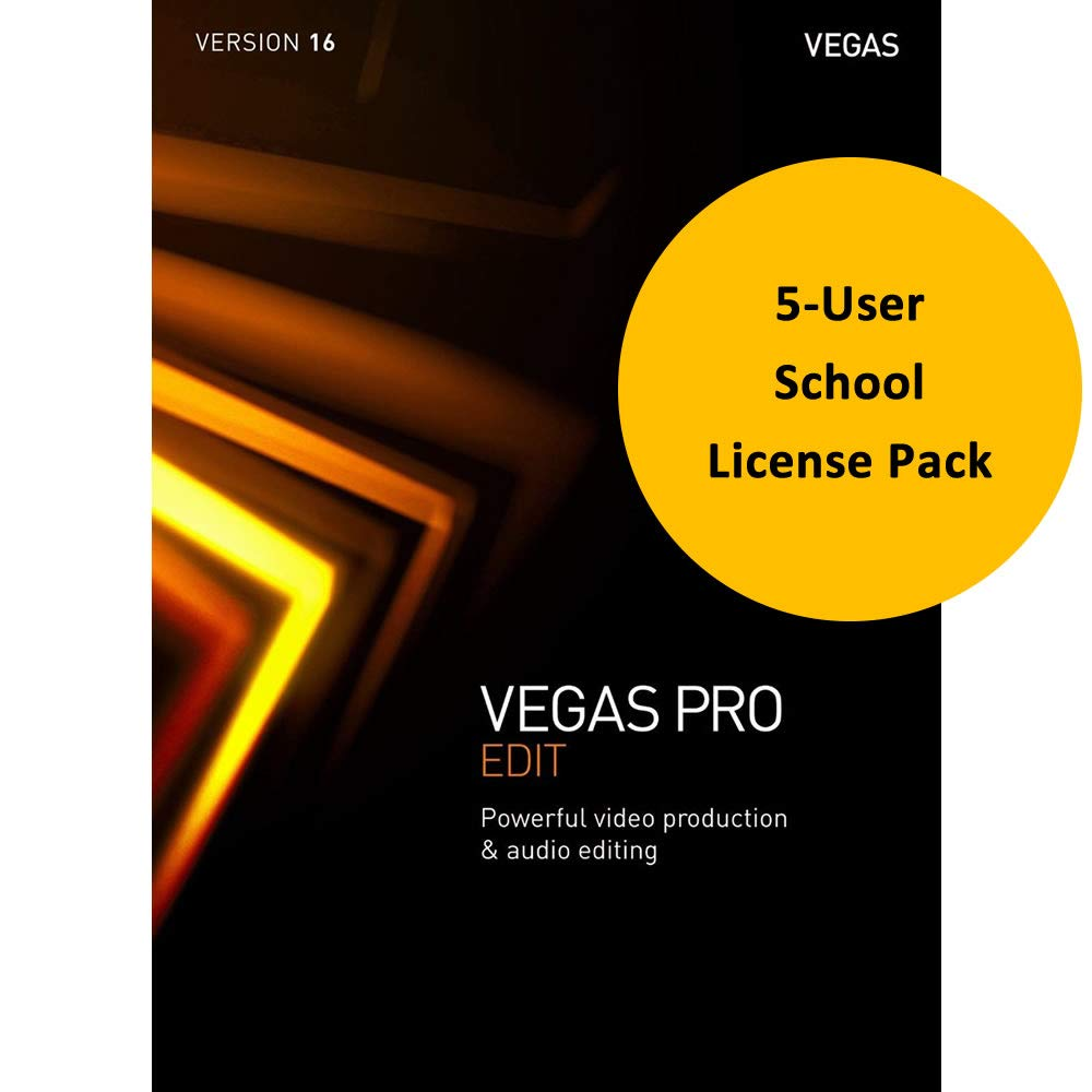 MAGIX Vegas Pro Edit 16 for Windows 5-User School License - Professional Video & Audio Editing by Genesis-MGX