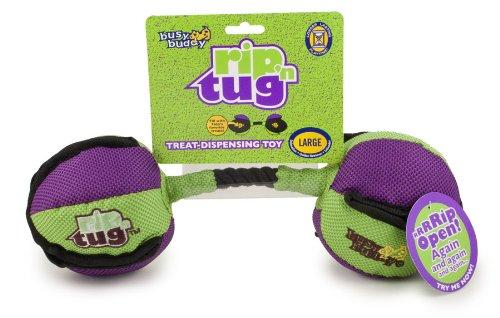 PetSafe Rip N Tug Barbell Plush Toy, Large, My Pet Supplies