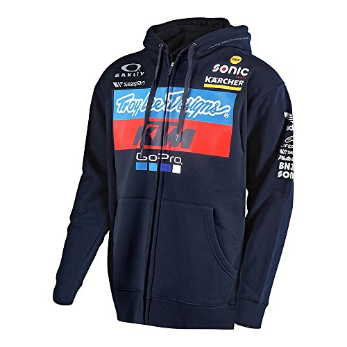 Troy Lee Designs Official Team KTM Licensed Zip Up Fleece (Small, Navy) ()