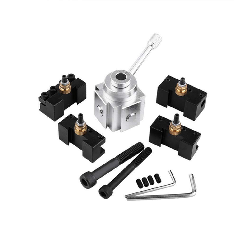 Homyl Quick Change Tool Post and Holder Kit Set Aluminum for Table Lathes by Homyl (Image #7)