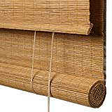 Roller Shades YXX Bamboo Sun Shade - Light Filtering Roll Up Blinds with Valance for Garden, Patio, Gallery, Balcony (Size : 120x180cm)
