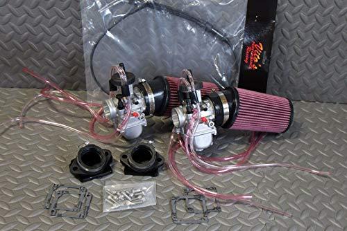 (New 2 X 35Mm Carburetors Carbs And Throttle Cable Banshee/Pod Filters/Intakes)