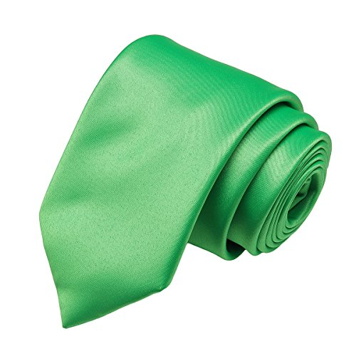 Party for Ties Polyester Green Pure Solid Wedding in Neckties Men Plain Satin Work 6 Color 22 Classic Colors Neck Formal grass 1Owq5d1
