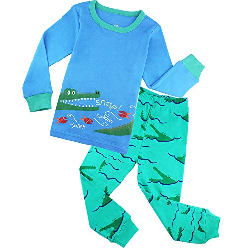 ZFBOZS Boys Pajamas PJs Sets for Kids Crocodile Clothes Children Cotton Sleepwear -