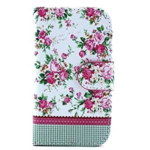 ZCL sold out Rose Flower Design Full Body PU Leather Case with Stand and Card Slot and Money Holder for Samsung Galaxy S3mini I8190
