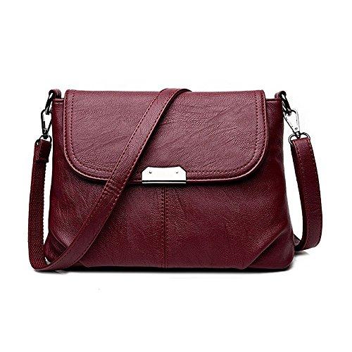 GWQGZ Le Nouveau Sac De Mode La Nouvelle Épaule Simple De Mode Simple Sacoche De Voyage. Violet Gules