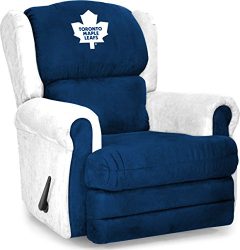 Imperial Officially Licensed NHL Furniture: Coach Microfiber Recliner, Toronto Maple Leafs