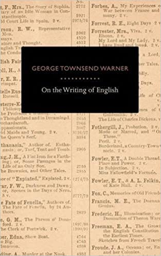 On The Writing Of English by George Townsend Warner (2008-01-18)