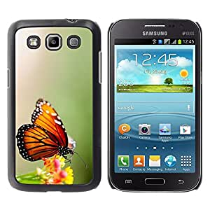 Design for Girls Plastic Cover Case FOR Samsung Galaxy Win I8550 Wings Butterfly Flower Green OBBA