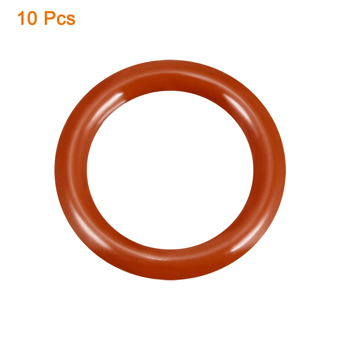 50 Pcs 12mm x 2.5mm x 7mm Dark Red Silicone O Rings Oil Seal Washers Gasket
