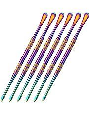 6 Packs Wax Carving Tool Wax Tool, BetterJonny Carving Tool Rainbow Stainless Steel Tool Spoon 4.75 Inch