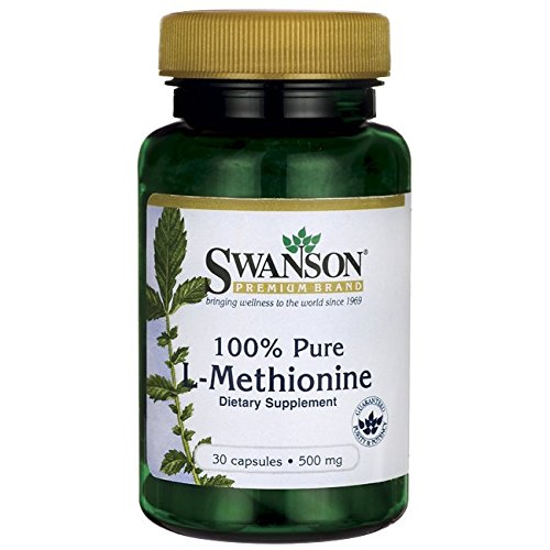 Swanson Amino Acid 100% Pure L-Methionine 500 Milligrams 30 Capsules
