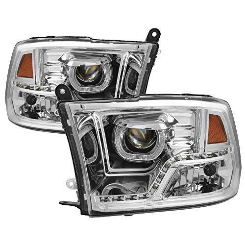 SPYDER 9036743 Dodge Ram 1500 Black Halogen Led Projector Headlight