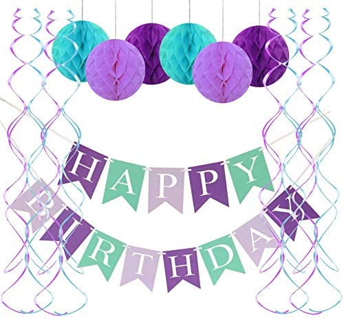 FECEDY Birthday Honeycomb Streamers Decorations product image