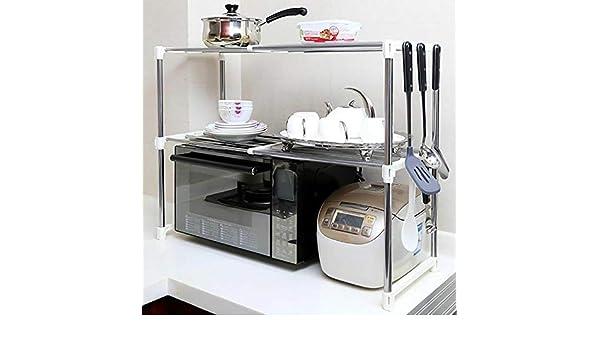 Práctico estante de almacenamiento para microondas, horno ...
