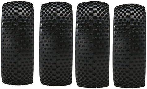 P Prettyia RCカータイヤ ホイールリム ラバー 1/8 RCモデルカー用 交換部品 4個/セット