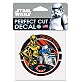 WinCraft Chicago Bears Official NFL 4 inch x 4 inch Star Wars R2-D2 and C-3PO Die Cut Car Decal by 402622
