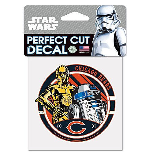 WinCraft Chicago Bears Official NFL 4 inch x 4 inch Star Wars R2-D2 and C-3PO Die Cut Car Decal by 402622 by WinCraft