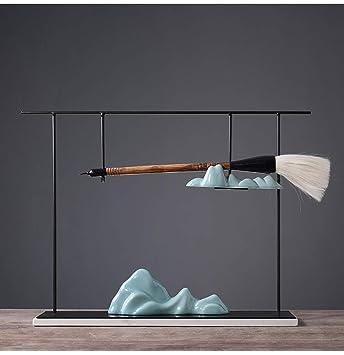 Nuevo Zen Chino Cerámica Decoración de la rocalla Sujetador del cepillo Sala de estar en el