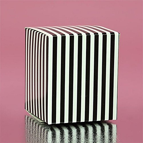 (Black Striped Cube Tuck Top Boxes (2in. X 2in. X 2in., 12/pack))