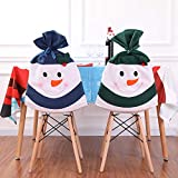 Christmas Decor Kitchen Chair Slip Covers Red