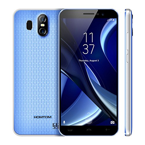 5.5 inch 2GB RAM + 16GB ROM, Android 7.0 Smartphone, 64GB Expansion, Dual Back Camera, MTK6580 Quad Core, Network: 3G, GPS, Dual SIM Cards, HD Mobiele Telefoon Cell Phones HOMTOM ()