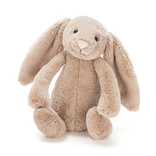 Jellycat Bashful Beige Bunny Chime Rattle, 10 inches