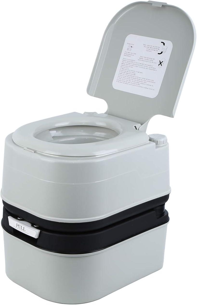 MuGuang Camping Toilet Travel WC portátil para autocaravanas, apartamentos, jardines, barcos, residencias de ancianos, hospitales