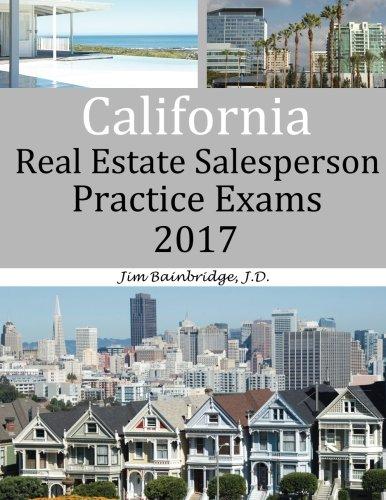 California Real Estate  Salesperson Practice Exams 2017