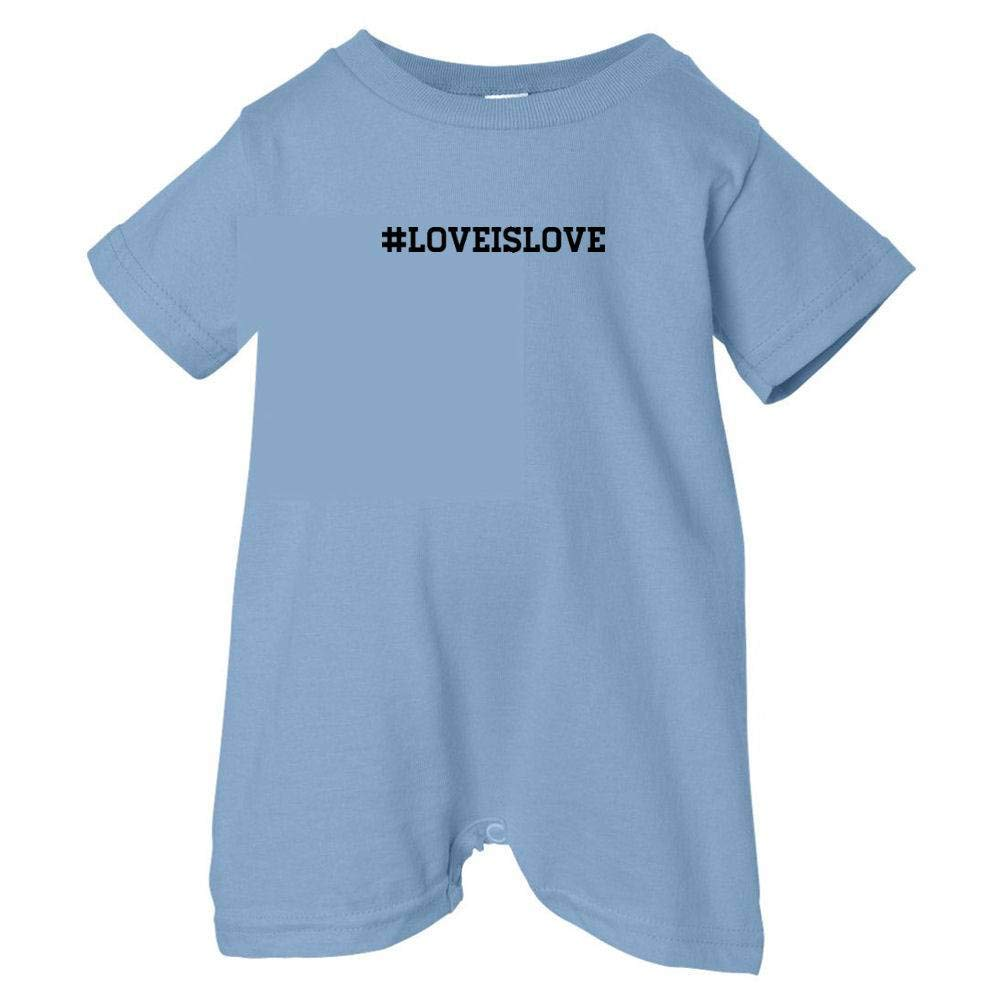 T-Shirt Romper Black Print Pride Universe Unisex Baby #Love Is Love