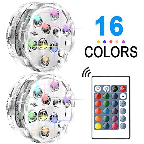 Triple Led Light (Submersible LED Lights:Waterproof Party Lights For All Events And Occasions,Indoor And Outdoor Use,Colorful With Different Modes,With Remote Control Lights,AAA Battery Operated,Multicolor 2Pack)