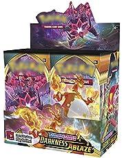 Poke Card Booster Box Darkness Ablaze, 360 st pokkort booster paket mörk abellaze, poke booster box tecknade spelkort present för barn vuxna anime-fans, engelsk version