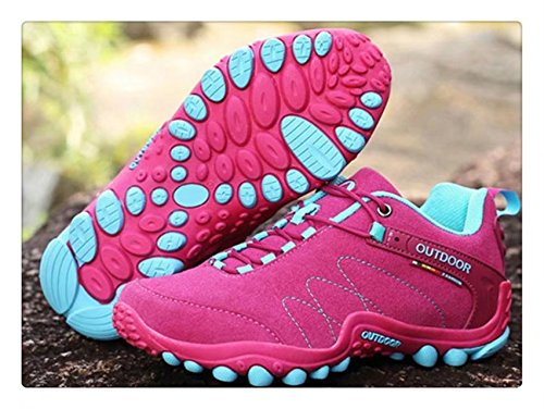 Unisex Rose Walking Cross Sneakers Waterproof Shoes Running Country Hiking Boots F Breathable ANBOVER TtdwqPT