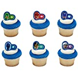 PJ Masks Heroes and Villians Cupcake Rings/Toppers - Set of 12
