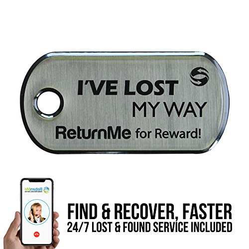 ReturnMe KeyTag - Lifetime Lost & Found Service For Your Keys - Tracker Return