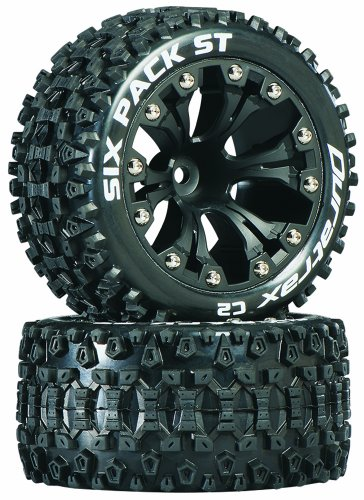 "Duratrax Six Pack ST 2.8 Truck 2WD Mounted 1/2"" Offset C2 Wheels (2), Black"