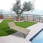Mediawave-Store-Lettino-Prendisole-in-Alluminio-con-Tettuccio-Parasole-LUXURIOUS-Beach-Ideale-per-Spiaggia-Bordo-Piscina-o-Arredo-Giardino-180X60X40-cm-Colore-Tortora