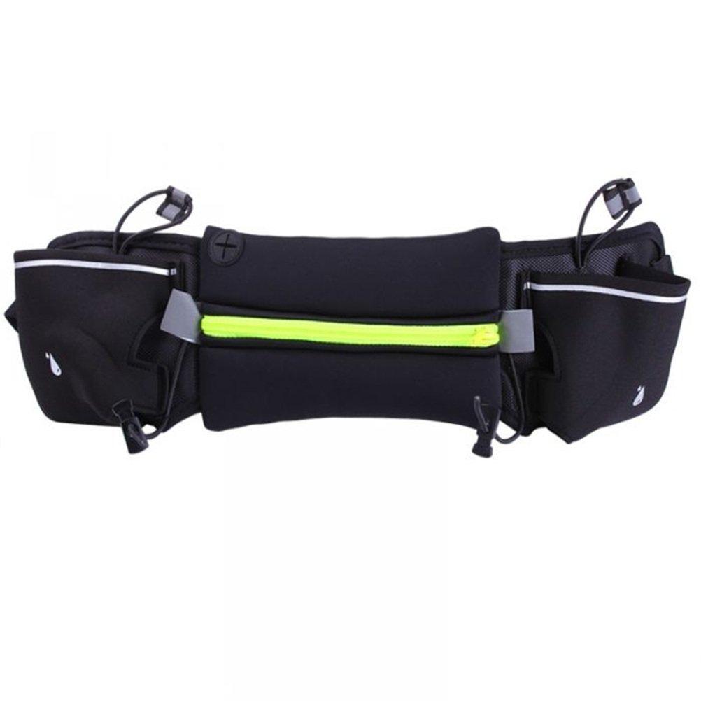 WINOMO Running Pouch Belt Waist Pack Belt Travel Pouch for Running Hiking Cycling Dog Walking 4''-6'' Smartphoe Money Coins Keys Passport Holder - Green by WINOMO