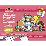 """MotherWord Ultimate Family Magnetic Hanging Calendar and Chore Chart, 16-Month, Sept 2020-Dec 2021, English, Large Deluxe Version, 18"""" x 13.5"""" (MWFC012821)"""