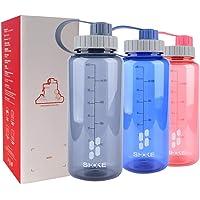 SHOKE 1 Liter Water Bottle with Wide Mouth Leak-Proof, Tritan Plastic 1 Liter BPA Free Water Bottles 32oz Gym Bottle for Sport Outdoor Travel