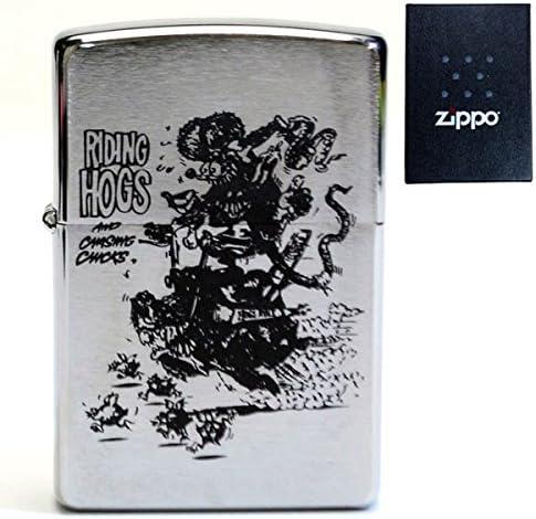 RAT FINK ラットフィンク RIDING HOGS 刻印 zippo 200 ジッポ ライター アメリカン雑貨 アメリカ雑貨 エド・ロス HOTROD ホットロッド custom カスタム グッズ ねずみ モンスター デザイン