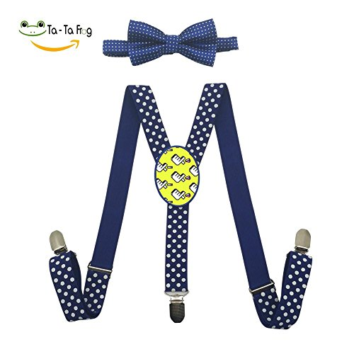 cheap Grrry Children Heart Bomb Logo Pattern Adjustable Y-Back Suspender+Bow Tie free shipping