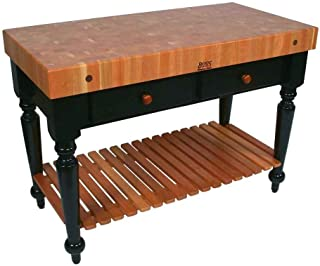 product image for John Boos Rectangular Table in Cherry End Grain Top (30 in. x 24 in.)