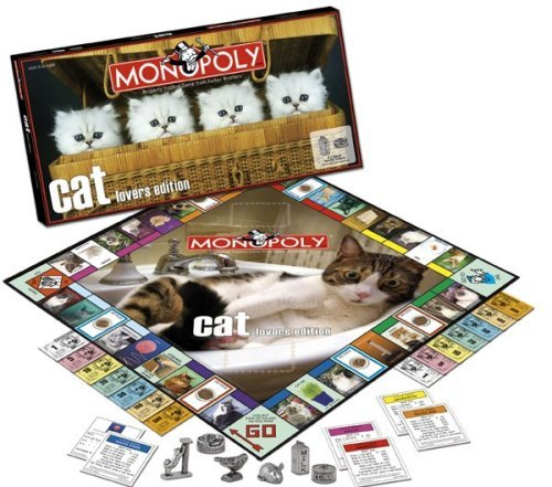 Cat Lover's Monopoly by USAopoly (Cat Lovers Monopoly Game)