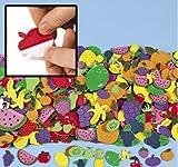 fruit shapes - Fruit Shapes Self Stick Foam Shapes 500/pk.