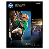 HP Glossy Advanced Photo Paper for Inkjet, 8.5 x 11 Inches, 50...