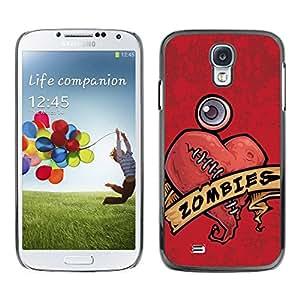 LASTONE PHONE CASE / Carcasa Funda Prima Delgada SLIM Casa Carcasa Funda Case Bandera Cover Armor Shell para Samsung Galaxy S4 I9500 / Zombie Heart Love