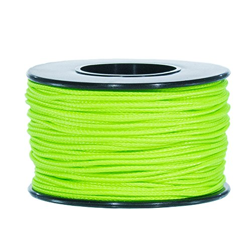 Atwood Mobile Products Micro Sport Cord 1.18mm X 125 Ft Small Spool Lightweight Braided Cord (Neon Green) - Micro Mobile