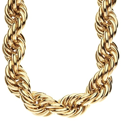 25mm Chain Rope (Heavy Solid Rope DMC Style Hip Hop Chain - 25mm gold)